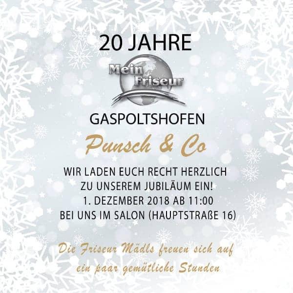 20 Jahre Mein Friseur in Gaspoltshofen